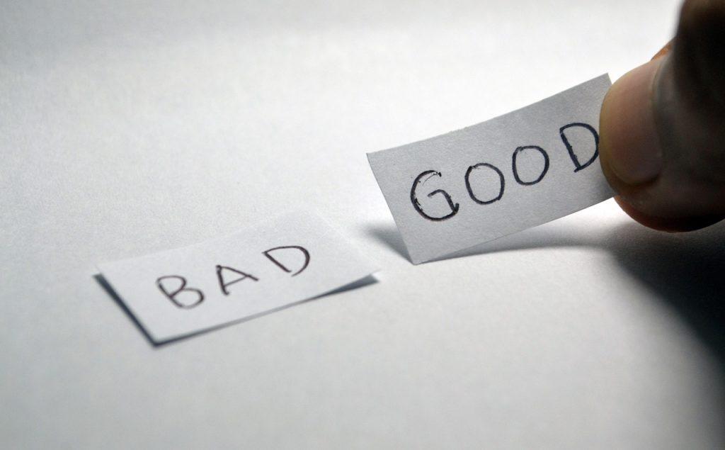 good, bad, opposite